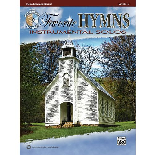 ALFRED PUBLISHING FAVORITE HYMNS INST SOL PNO + CD - PIANO SOLO