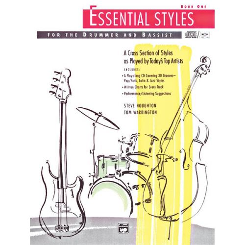 ALFRED PUBLISHING HOUGHTON STEVE - ESSENTIAL STYLES BOOK 1 + CD - DRUMS & PERCUSSION