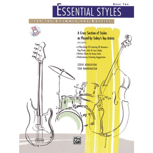 ALFRED PUBLISHING HOUGHTON STEVE - ESSENTIAL STYLES BOOK 2 + CD - DRUMS & PERCUSSION