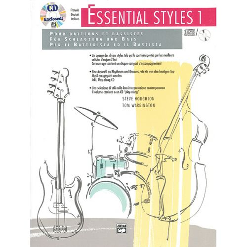 ALFRED PUBLISHING ESSENTIAL STYLES 1 + CD - DRUM