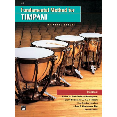 ALFRED PUBLISHING PETERS MITCHELL - FUNDAMENTAL METHOD FOR TIMPANI - PERCUSSION