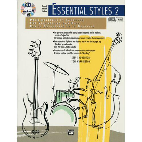 ALFRED PUBLISHING ESSENTIAL STYLES 2 ,+ CD INTL ED - DRUM