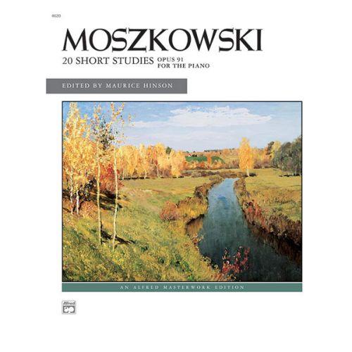 ALFRED PUBLISHING MOSZKOWSKI MORITZ - 20 SHORT STUDIES OP91 - PIANO