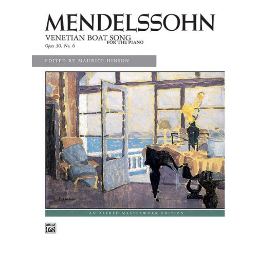 ALFRED PUBLISHING MENDELSSOHN-BARTHOLDY FELIX - VENETIAN BOAT SONG - PIANO SOLO