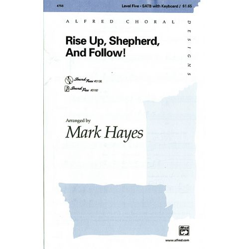 ALFRED PUBLISHING HAYES MARK - RISE UP SHEPHERD AND FOLLOW - MIXED VOICES