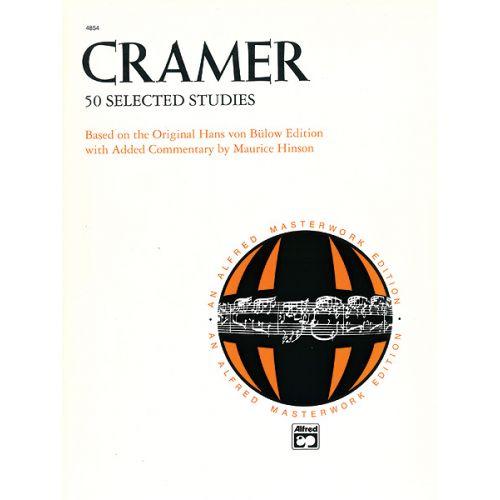 ALFRED PUBLISHING CRAMER JOHANN BAPTIST - 50 SELECTED STUDIES - PIANO SOLO