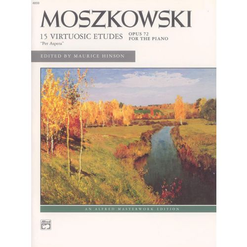 ALFRED PUBLISHING MOSZKOWSKI M. - ETUDES OP 72 - PIANO SOLO