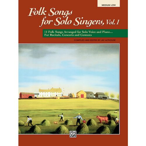 ALFRED PUBLISHING ALTHOUSE JAY - FOLK SONGS FOR SOLO SINGERS - MEDIUM AND LOW VOICE