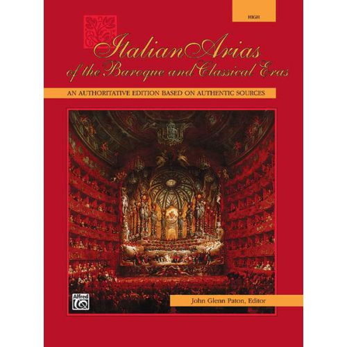 ALFRED PUBLISHING PATON JOHN GLENN - ITALIAN ARIAS OF THE BAROQUE - VOICE AND PIANO (PER 10 MINIMUM)