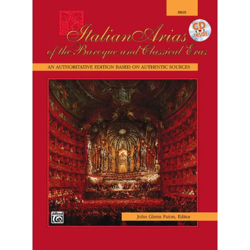 ALFRED PUBLISHING PATON JOHN GLENN - ITALIAN ARIAS OF THE BAROQUE HIGH + CD  - VOICE AND PIANO (PER 10 MINIMUM)