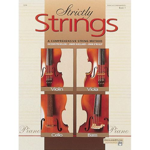 ALFRED PUBLISHING STRICTLY STRINGS BOOK 1 - PIANO