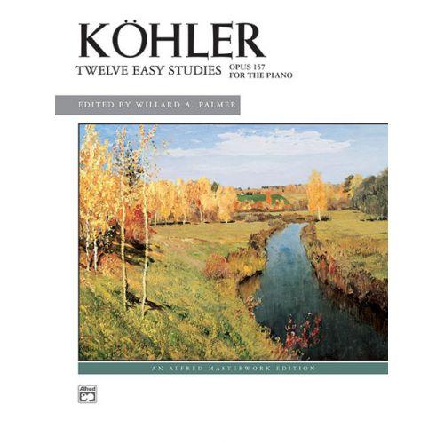 ALFRED PUBLISHING KOHLER - 12 EASY STUDIES - PIANO SOLO