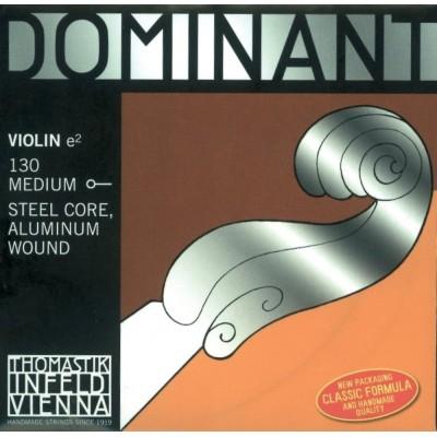 THOMASTIK STRINGS VIOLIN DOMINANT SOLID CORE NYLON E ALU. 130