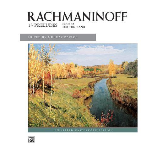 ALFRED PUBLISHING RACHMANINOV SERGEI - PRELUDES OP 32 - PIANO SOLO