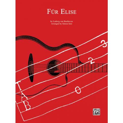 ALFRED PUBLISHING BEETHOVEN LUDWIG VAN - FUR ELISE - GUITAR TAB