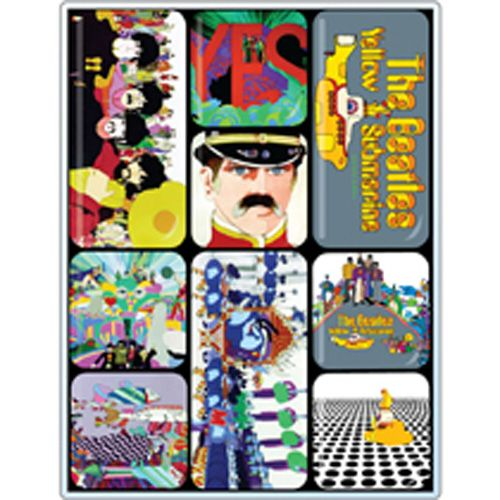 WOODBRASS CLUB MAGNET AIMANT BEATLES MOTIF: YELLOW SUBMARINE - 7,6 CM X 7,6 CM