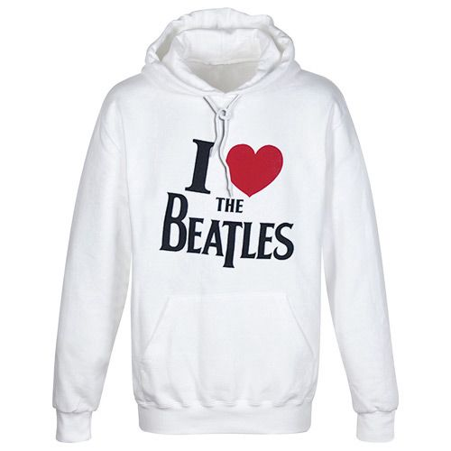 WOODBRASS CLUB BEATLES HOODED SWEATER - MOTIF : I LOVE THE BEATLES - M