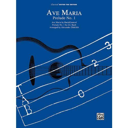 ALFRED PUBLISHING BACH JOHANN SEBASTIAN - AVE MARIA/PRELUDE NO1 - PVG