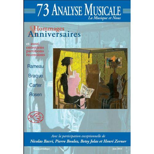 REVUE ANALYSE MUSICALE ANALYSE MUSICALE N°73 - RAMEAU, BRAQUE, CARTER, ROSEN