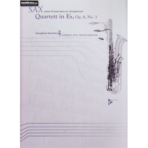 ADVANCE MUSIC BACH J.CHRISTIAN - QUARTETT IN EB OP.8 N°3 - SAXOPHONE (SATB)