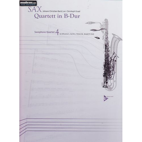 ADVANCE MUSIC BACH J.CHRISTIAN - QUARTETT IN B-DUR - SAXOPHONE (SATB)