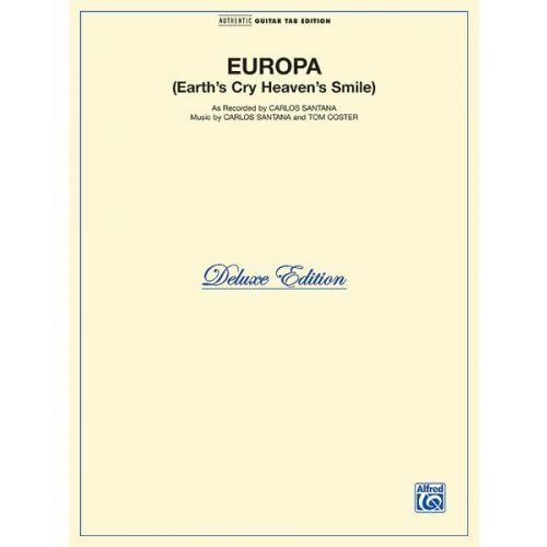 ALFRED PUBLISHING SANTANA CARLOS - EUROPA - GUITAR TAB