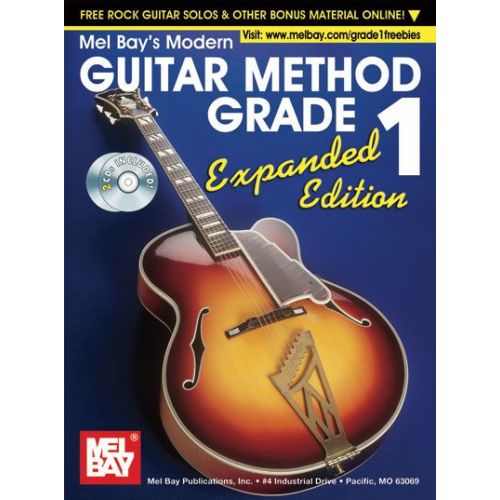 MEL BAY BAY WILLIAM - MODERN GUITAR METHOD GRADE 1, EXPANDED EDITION + CD - GUITAR