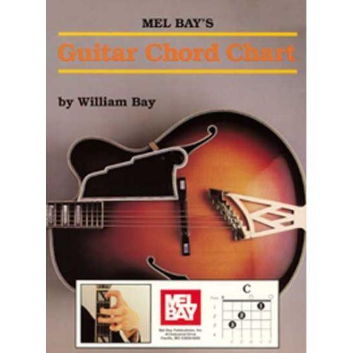 MEL BAY BAY WILLIAM - GUITAR CHORD CHART - GUITAR