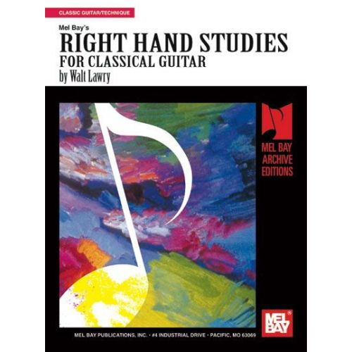 MEL BAY LAWRY WALT - RIGHT HAND STUDIES FOR CLASSIC GUITAR - GUITAR