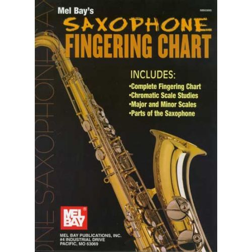 MEL BAY BAY WILLIAM - SAXOPHONE FINGERING CHART