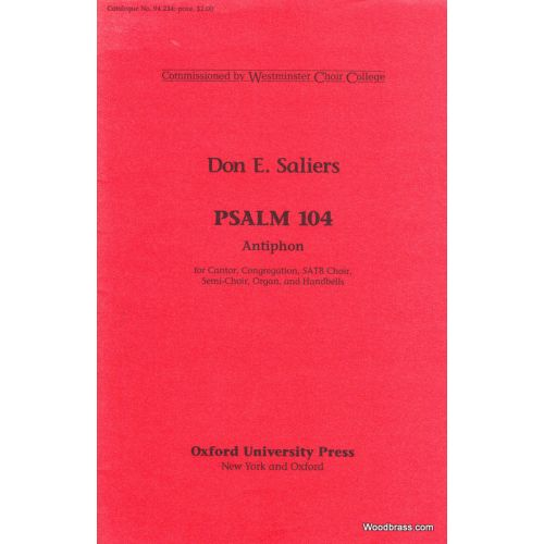 OXFORD UNIVERSITY PRESS SALIERS DON E. - PSALM 104 - ANTIPHON