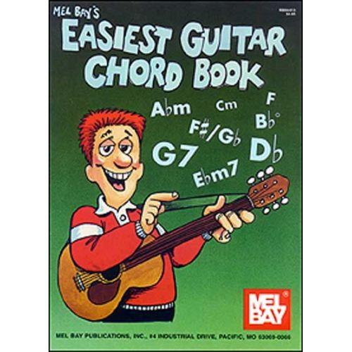 MEL BAY BAY WILLIAM - EASIEST GUITAR CHORD BOOK - GUITAR