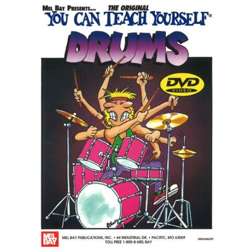 MEL BAY MORTON JAMES - YOU CAN TEACH YOURSELF DRUMS + DVD - DRUM SET