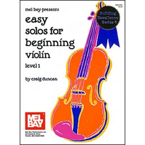 MEL BAY DUNCAN CRAIG - EASY SOLOS FOR BEGINNING - VIOLIN
