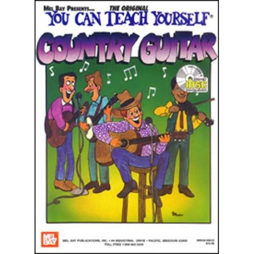 MEL BAY BRUCE DIX - YOU CAN TEACH YOURSELF COUNTRY GUITAR + CD - GUITAR