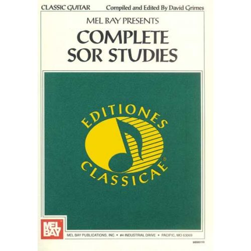 MEL BAY GRIMES DAVID - COMPLETE SOR STUDIES FOR GUITAR - GUITAR