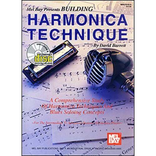 MEL BAY BARRETT DAVID - BUILDING HARMONICA TECHNIQUE + CD - HARMONICA