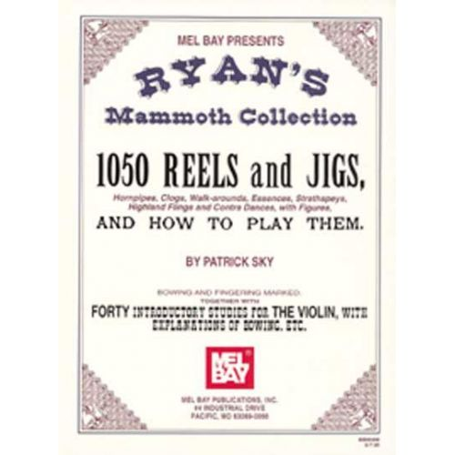 MEL BAY SKY PATRICK - RYAN'S MAMMOTH COLLECTION OF FIDDLE TUNES - FIDDLE