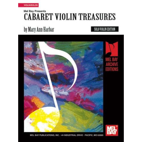 MEL BAY HARBAR MARY ANN - CABARET VIOLIN TREASURES - VIOLIN