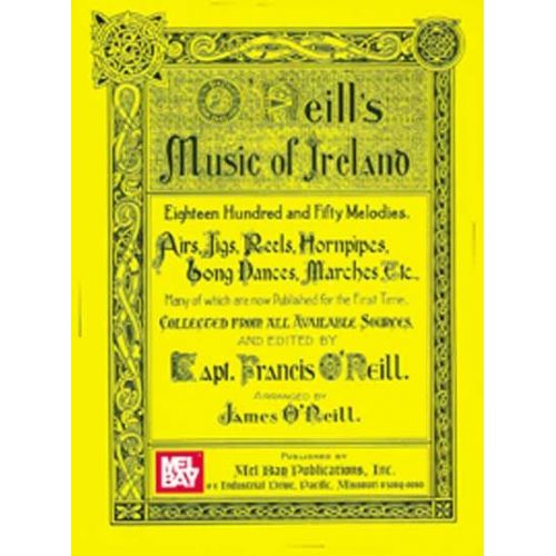 MEL BAY O'NEILL FRANCIS - O'NEILL'S MUSIC OF IRELAND - VIOLIN