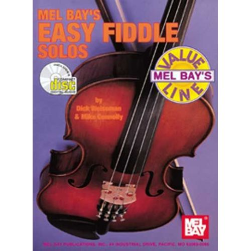 MEL BAY WEISSMAN DICK - EASY FIDDLE SOLOS + CD - FIDDLE