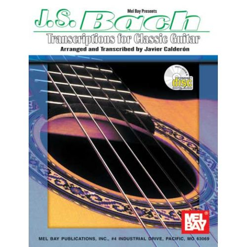 MEL BAY BACH J.S. - TRANSCRIPTIONS FOR CLASSIC GUITAR + CD - GUITAR