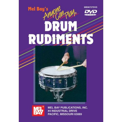 MEL BAY HOLTER GENE - ANYONE CAN PLAY DRUM RUDIMENTS - DRUM SET