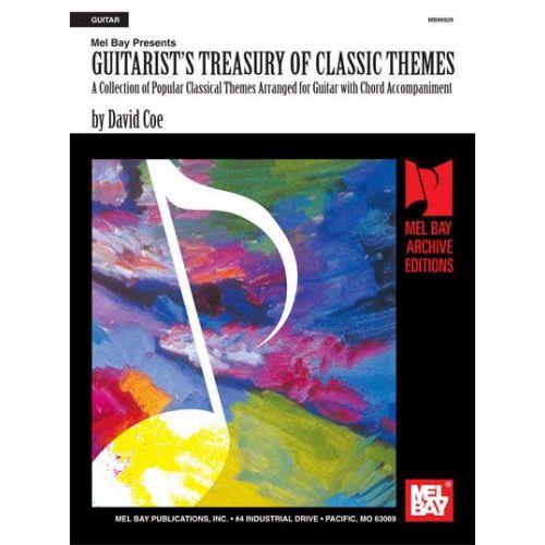 MEL BAY COE DAVID - GUITARIST'S TREASURY OF CLASSIC THEMES - GUITAR