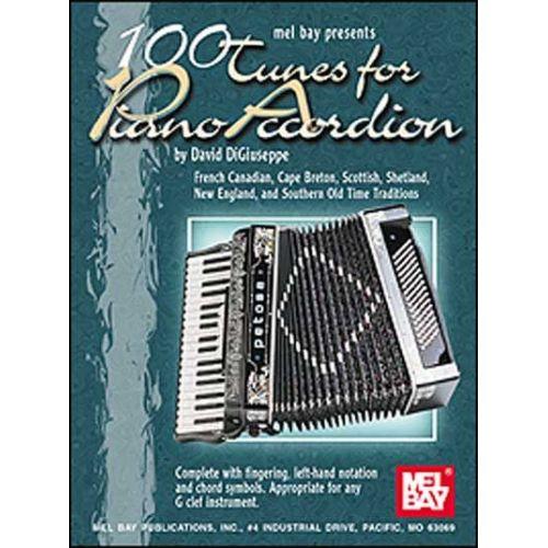 MEL BAY DiGIUSEPPE DAVID - 100 TUNES FOR PIANO ACCORDION