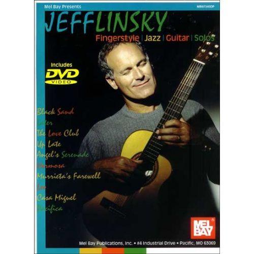 MEL BAY LINSKY JEFF - FINGERSTYLE JAZZ GUITAR SOLOS + DVD - GUITAR