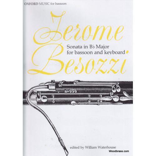 OXFORD UNIVERSITY PRESS BESOZZI J. - SONATA IN B FLAT MAJOR - BASSON ET PIANO