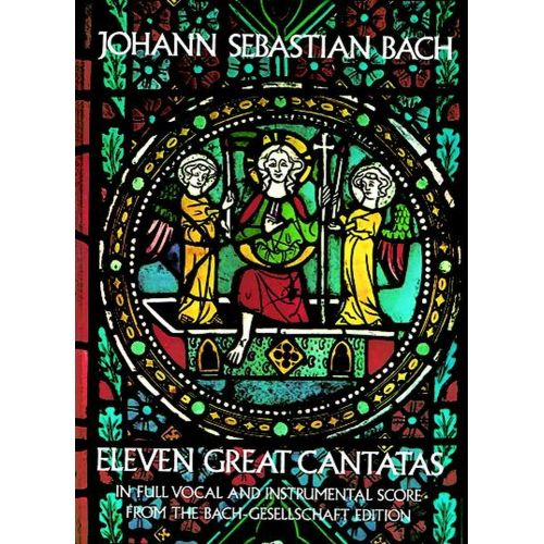 DOVER BACH J.S. - 11 GREAT CANTATAS - VOCAL SCORE