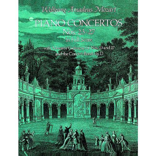 DOVER MOZART W.A. - PIANO CONCERTO N°23-27 - FULL SCORE