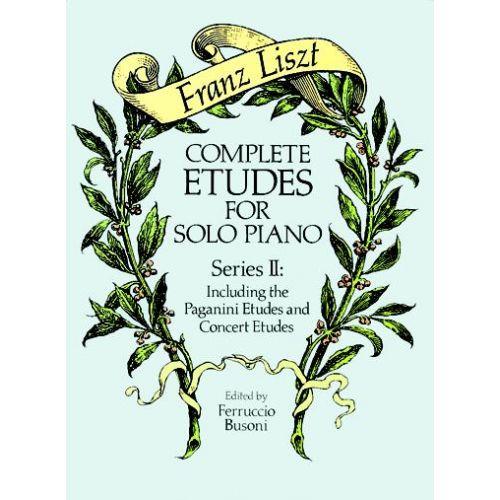 DOVER LISZT F. - COMPLETE ETUDES VOL.2 - PIANO